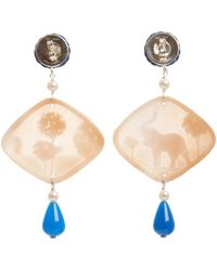 Anna E Alex - Natural Elephant Safari Deco Shell Earrings - Lyst
