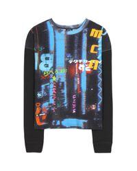 McQ - Multicolor Printed Cotton Sweater - Lyst