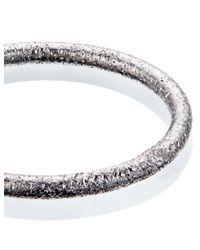 Carolina Bucci | Metallic White Gold Sparkly Thin Ring | Lyst