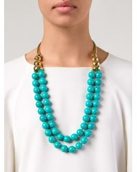 Aurelie Bidermann - Blue 'Lakotas' Necklace - Lyst