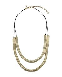 TOPSHOP | Metallic Two Layer Cap Necklace | Lyst