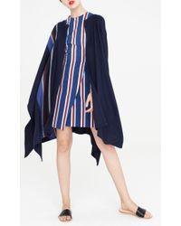 Apiece Apart | Blue Stripe Weave Poncho | Lyst