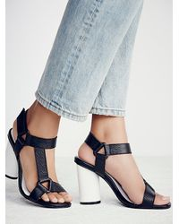Free People | Black Full Turn Heel | Lyst