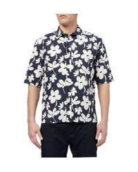 Marni   Blue Long Sleeve Shirt for Men   Lyst