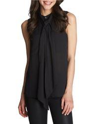 1.STATE | Black Necktie Sleeveless Blouse | Lyst