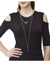 Arme De L'Amour | Metallic 3 Layer Necklace With Horn / Sale | Lyst