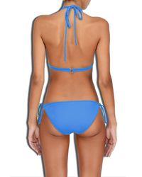 MILLY - Blue Cabana Solid Biarritz Bikini Bottom - Lyst