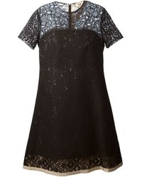 N°21 | Black Lace Fitted Dress | Lyst