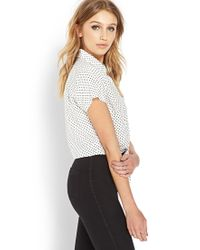 Forever 21 - Natural Dotted Western Shirt - Lyst