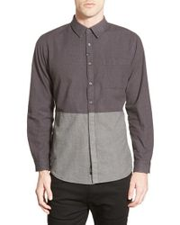 Imperial Motion   Multicolor 'hodge' Colorblock Woven Shirt for Men   Lyst