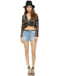 Stone Cold Fox | Charlie Blouse In Black Lace | Lyst