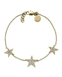 Michael Kors | Gray Golden Pave Star Bracelet | Lyst
