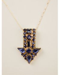 Stella McCartney - Blue Arrow Necklace - Lyst