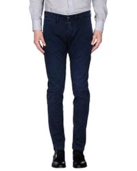 C+ Plus | Blue Casual Pants for Men | Lyst