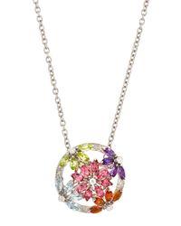 Asprey | Metallic Daisy Multistone Pendant Necklace | Lyst
