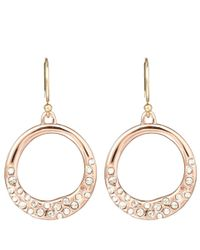 Alexis Bittar | Metallic Rose Goldtone Pave Circle Earrings | Lyst