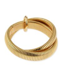 Diane von Furstenberg | Metallic Gemma Interlocking Bangle Bracelet | Lyst
