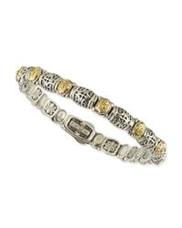 Konstantino - Metallic Sterling Silver/18k Gold Dotted Clasp Bracelet - Lyst