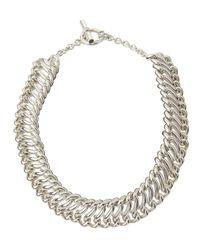 Slane - Metallic Interlocking S Link Necklace - Lyst