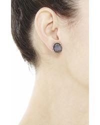 Kimberly Mcdonald - Blue Black Opal And Diamond Stud Earrings - Lyst