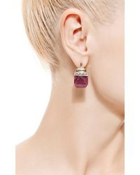 Jade Jagger | Red Never-ending Ruby and White Enamel Flat Earrings | Lyst