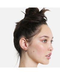 Tada & Toy - Shark Tooth Earring Rose Gold And Black - Lyst