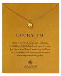 Dogeared | Metallic Lucky Us Elephant Necklace, 16"