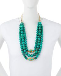 Devon Leigh Green Triple-strand Turquoise Necklace