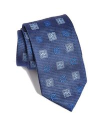 David Donahue | Blue Medallion Silk Tie for Men | Lyst