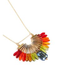 Scho | Multicolor Sky Paradise Rainbow Bead Crystal Necklace | Lyst
