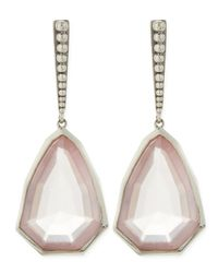 Stephen Dweck | Pink Small Sterling Silver Galactical Rose Quartz Earrings | Lyst