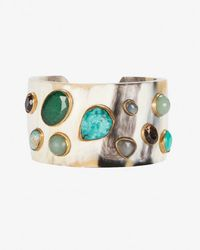 Ashley Pittman - Natural Basi Turquoise Stone Horn Cuff - Lyst