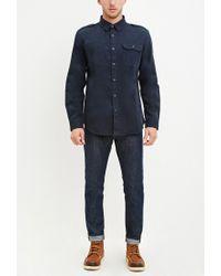 Forever 21 - Blue Classic Cotton Shirt for Men - Lyst