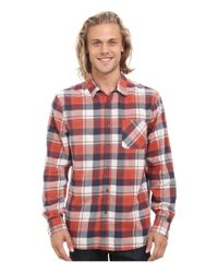 Rip Curl | Black Monument Long Sleeve Flannel for Men | Lyst