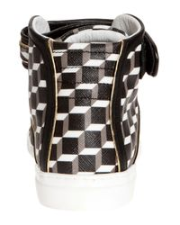 Pierre Hardy - Black High Top Cube Trainers - Lyst