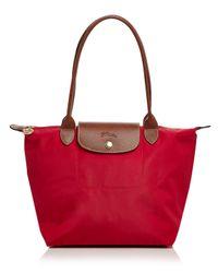 Longchamp - Red Le Pliage Medium Shoulder Tote - Lyst