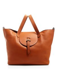 meli melo | Orange Thela Large Satchel | Lyst