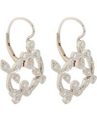 Cathy Waterman - White Lace Drop Earrings - Lyst