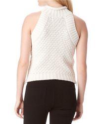 Sam Edelman | White Mila Cotton Crop Top | Lyst