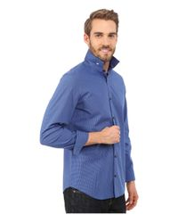 Calvin Klein - Blue Cool Tech Mini Check Poplin Woven Shirt for Men - Lyst