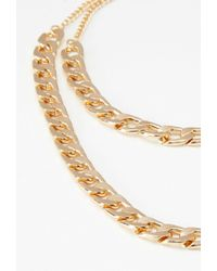 Forever 21 | Metallic Curb Chain Necklace Set | Lyst