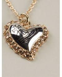 Vivienne Westwood | Metallic Heart Pendant Necklace | Lyst