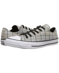 Converse - Gray Chuck Taylor® All Star® Plaid Ox - Lyst