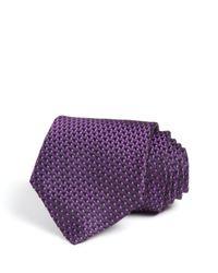 Armani | Purple Woven Jacquard Classic Tie for Men | Lyst