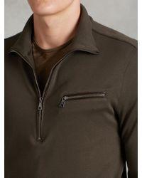 John Varvatos - Green Long Sleeve Half-zip Pullover for Men - Lyst