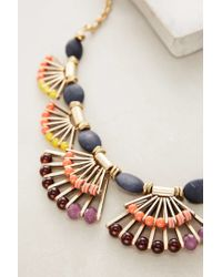 Anthropologie - Blue Fanned Lapis Necklace - Lyst