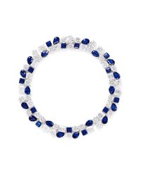 CZ by Kenneth Jay Lane | Blue 'egyptian Revival' Cubic Zirconia Fringe Necklace | Lyst