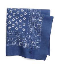 Brooks Brothers | Blue Bandana Print Pocket Square for Men | Lyst