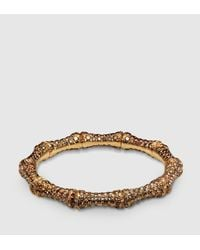 Gucci | Brown Diamond And Gold Bamboo Bracelet | Lyst