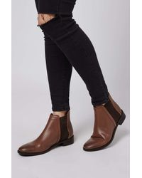 TOPSHOP | Brown Kaiser Chelsea Boot | Lyst